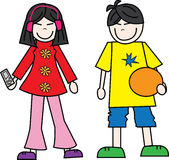 Teens boy girl. Boy and girl Royalty Free Stock Images