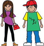 Teens boy girl. Boy and girl Royalty Free Stock Image