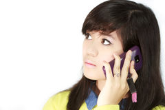 Teens with cellphone Stock Images