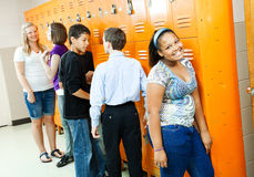 Teens Between Classes Stock Images