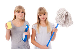 Teens cleaning Royalty Free Stock Images