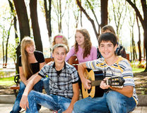 Free Teens Crowd In Park Stock Photography - 20200402
