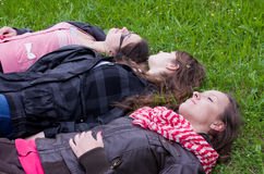 Teens daydreaming Royalty Free Stock Photography