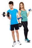 Teens doing fitness Stock Photo