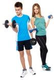 Teens doing fitness Stock Photo