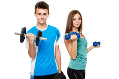 Teens doing fitness Royalty Free Stock Photography