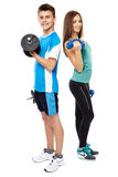 Teens doing fitness Stock Images