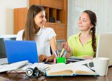 Teens doing homework Stock Photography