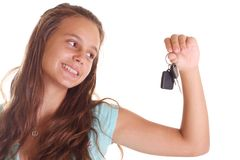 Teens dream to drive Stock Photos