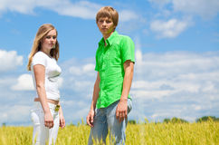 Teens in the field Stock Image