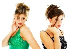 Teens in Formals Royalty Free Stock Images