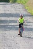 Teens girl on bike Royalty Free Stock Photography