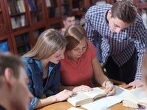 Teens group in school Royalty Free Stock Image