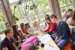 Teens group in school Royalty Free Stock Images