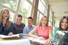 Teens group in school Stock Image