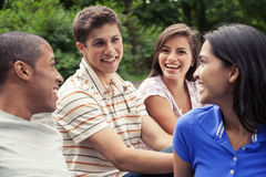 Teens hanging out together Stock Photography