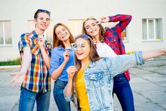 Teens having a party Stock Image