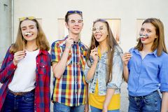 Teens having a party Stock Photography