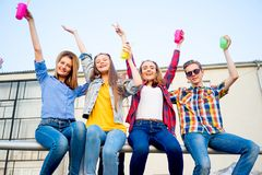 Teens having a party Stock Photos
