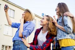 Teens having a party Stock Images