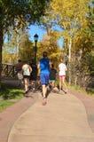 Teens Jogging. In Estes Park Colorado Stock Photo