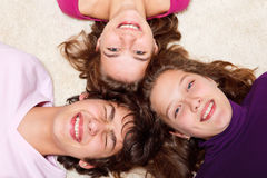 Teens laughing Stock Images
