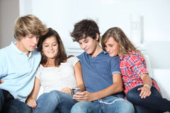 Teens leisure time Royalty Free Stock Photo