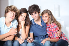 Teens leisure time Stock Photography