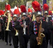 Teens in the Marching Band at the los Angeles County Fair Royalty Free Stock Photos