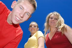 Teens with mother. Brother sister and their mother Stock Images