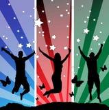 πηδώντας teens διάνυσμα απεικό&n Στοκ εικόνες με δικαίωμα ελεύθερης χρήσης
