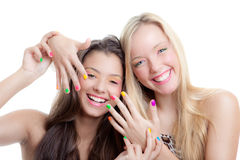 Teens nails Stock Images