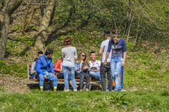 Teens in the park Stock Photos