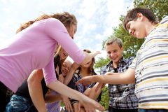 Teens playing Royalty Free Stock Image