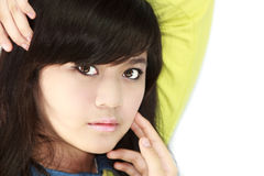 Teens Portrait. Asian teens portrait face closeup Stock Image