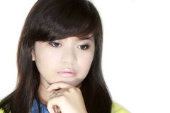Teens Portrait. Asian teens portrait face closeup Stock Photography