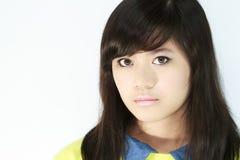 Teens Portrait. Asian teens portrait face closeup Stock Photo