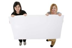 Teens with Poster Royalty Free Stock Photography