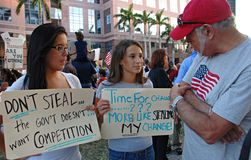 Teens with questions. Florida tea party Royalty Free Stock Photo