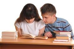 Teens Reading Royalty Free Stock Photo