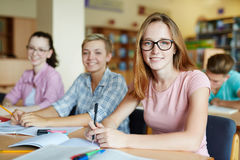 Teens at school Stock Photos