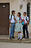 Teens in School Uniform, Colombia Royalty Free Stock Photo