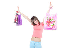 Teens shopping Royalty Free Stock Images