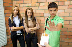 Teens Speak No Smoking Royalty Free Stock Image