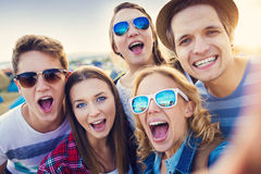 Teens at summer festival Royalty Free Stock Images
