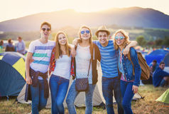 Teens at summer festival Stock Images