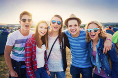 Teens at summer festival Royalty Free Stock Photos