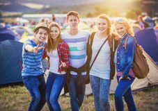 Teens at summer festival Royalty Free Stock Photography