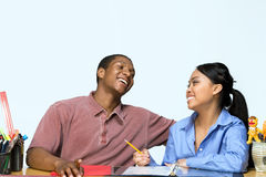 Teens Taking Notes - Horizontal Royalty Free Stock Photography