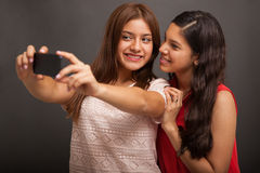 Teens taking a selfie Royalty Free Stock Image